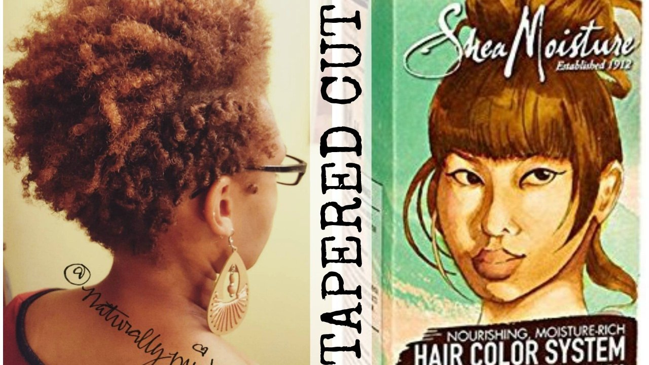 The Best Tapered Haircut And Color With Shea Moisture Hair Color Pictures