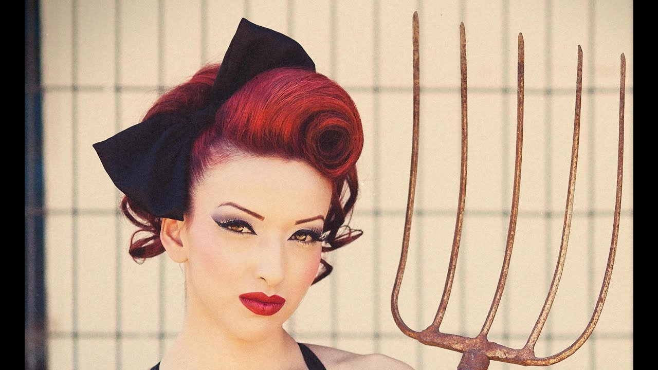The Best Pin Up Updo Swirl Hair Tutorial Youtube Pictures