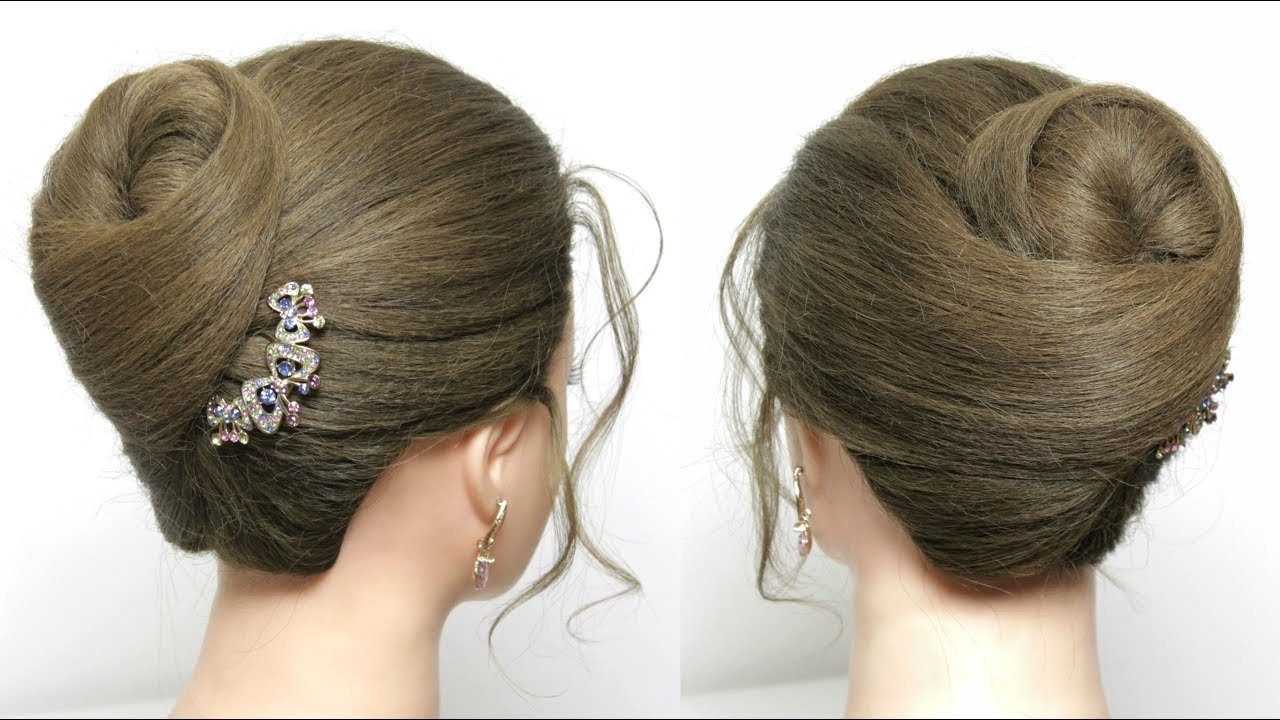 The Best Simple Bun Hairstyle For Long Hair Tutorial Juda Style Pictures