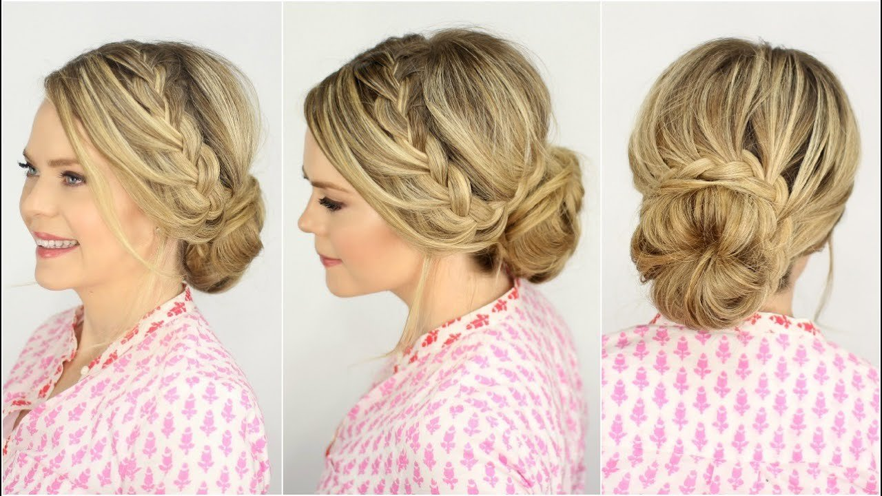 The Best French Lace Braid Updo Prom Hairstyle Missy Sue Youtube Pictures