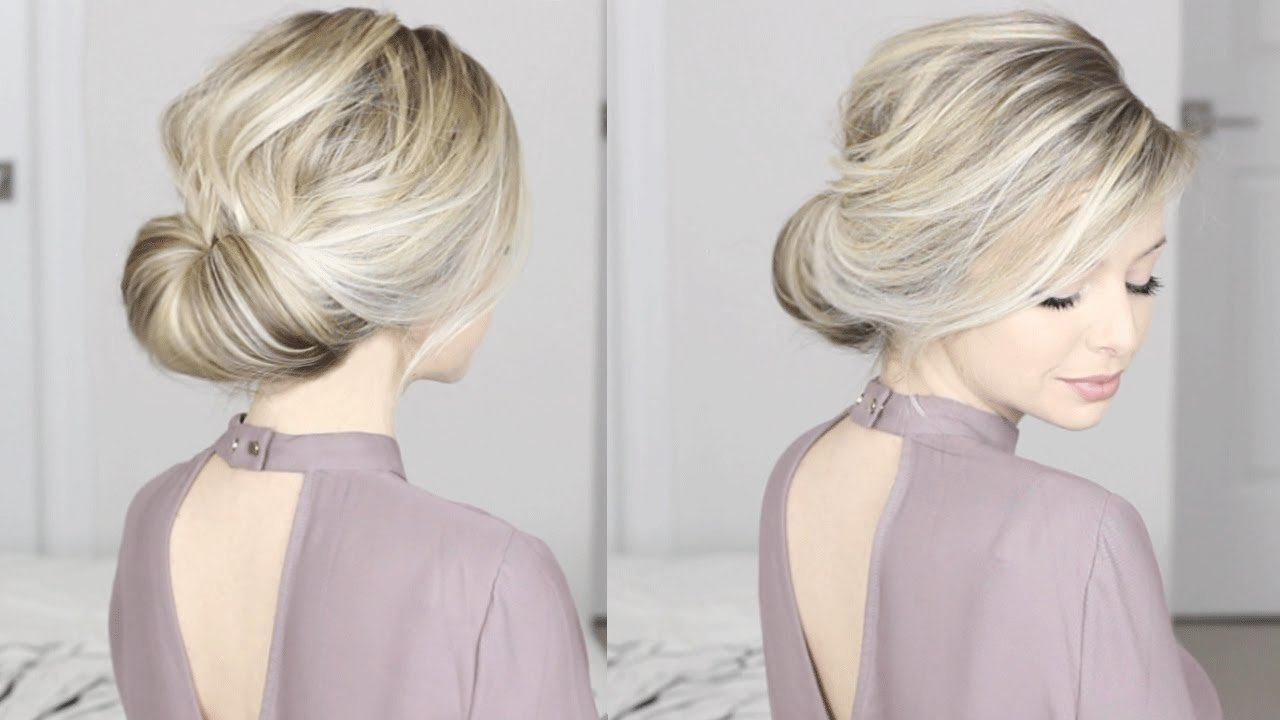 The Best Easiest Updo Ever Super Simple Perfect For Long Medium Pictures