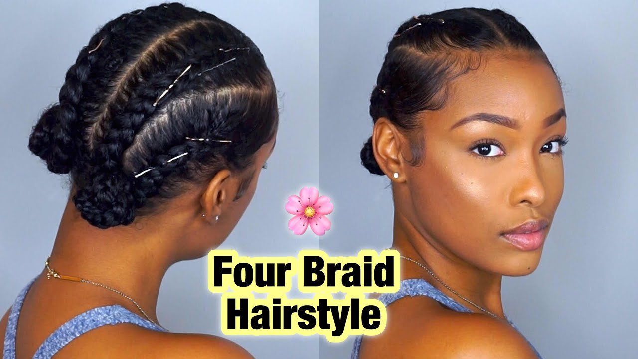 The Best Simple Four Braid Hairstyle For Natural Hair Pictures
