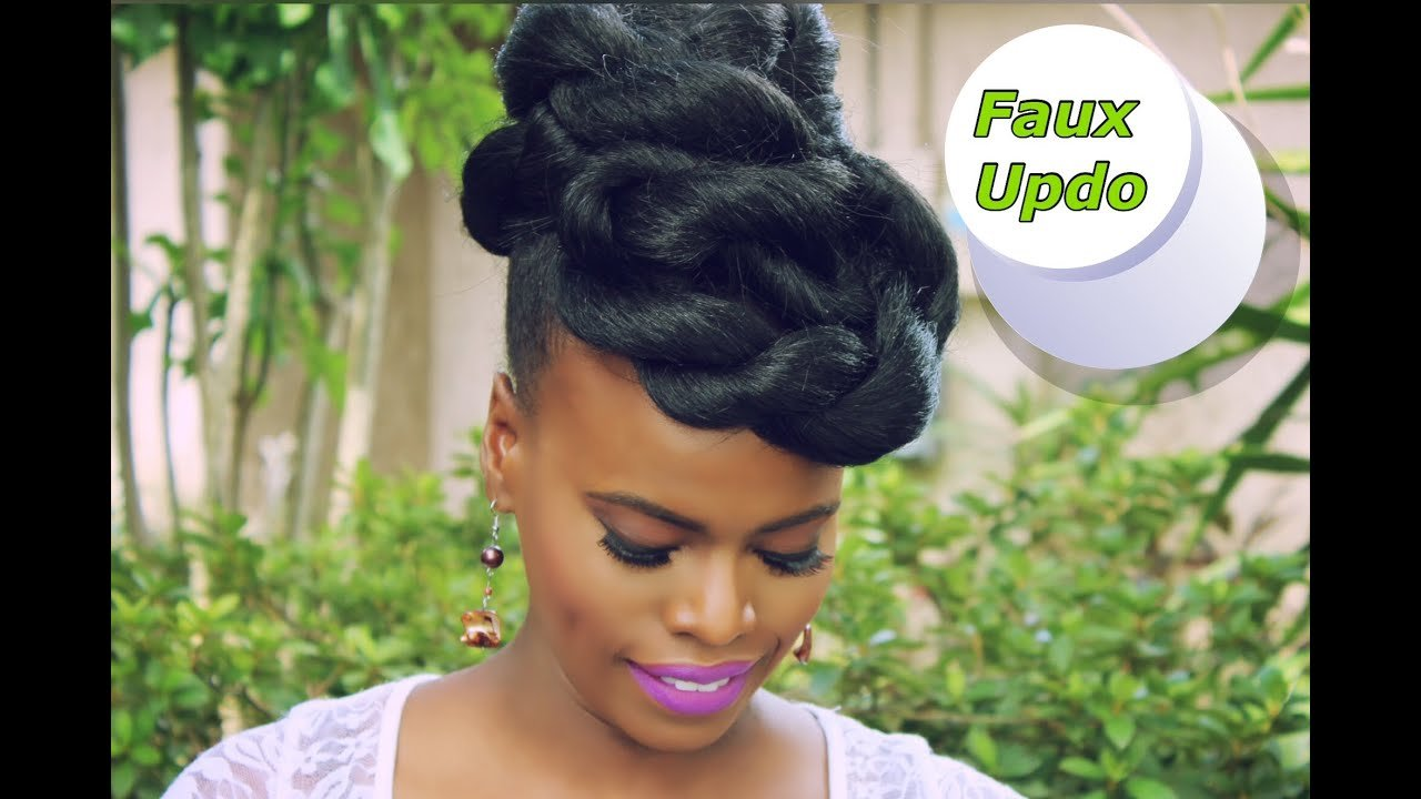 The Best Quick Easy Faux Updo Natural Hair Protective Style Pictures