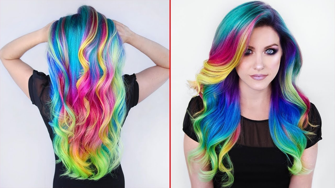 The Best Rainbow Hair Color Transformations Creating Colorful Pictures