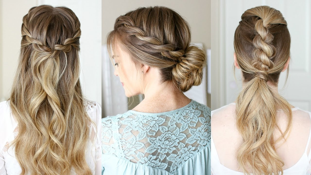 The Best 3 Easy Rope Braid Hairstyles Missy Sue Youtube Pictures