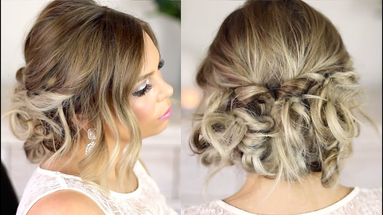 The Best Easy Formal Hair Messy Up Style Tutorial Youtube Pictures
