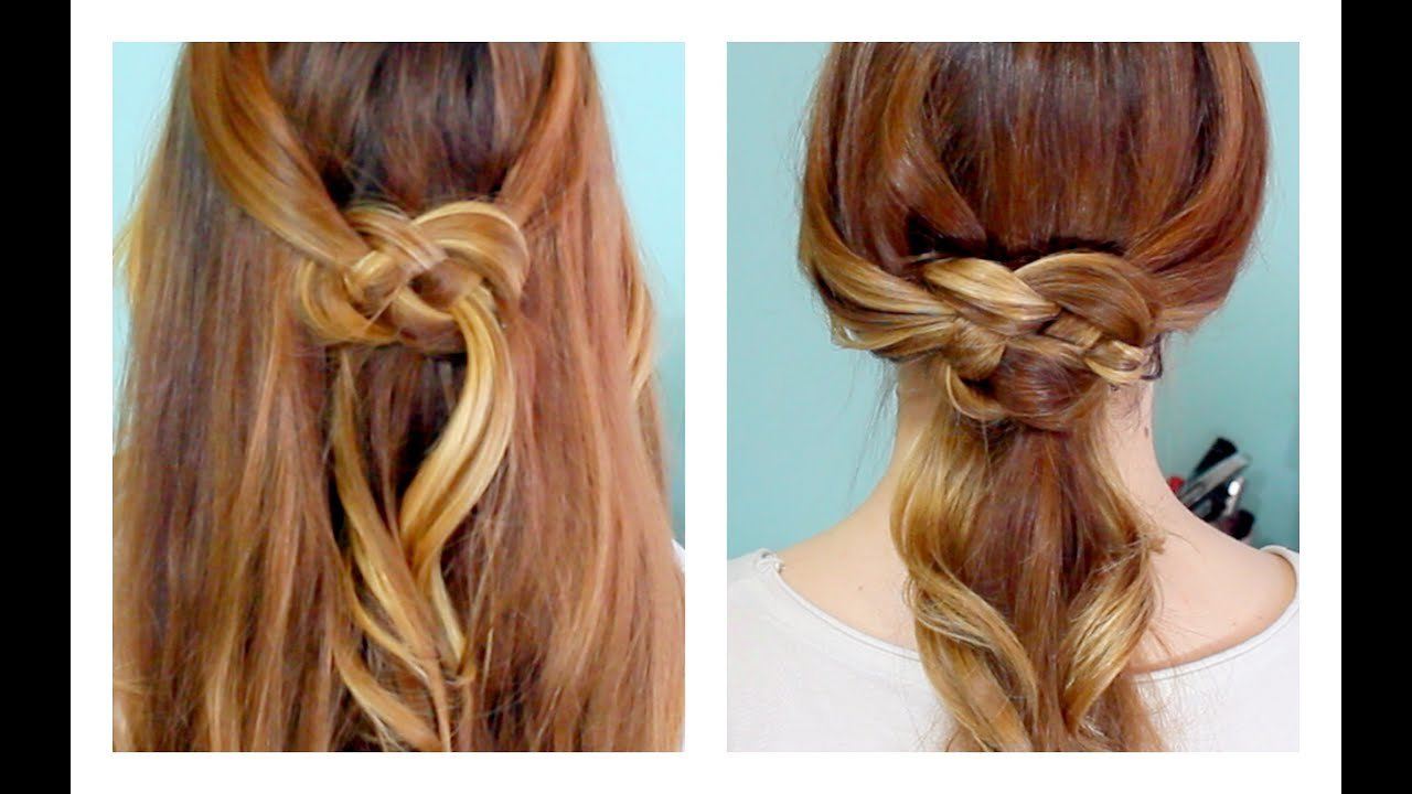 The Best How To Celtic Knot Half Updo And Ponytail Youtube Pictures