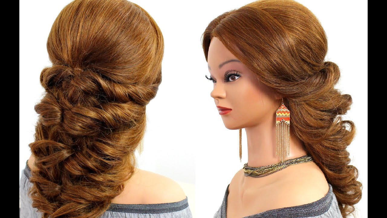 The Best Easy Wedding Prom Hairstyle For Long Hair Tutorial Youtube Pictures