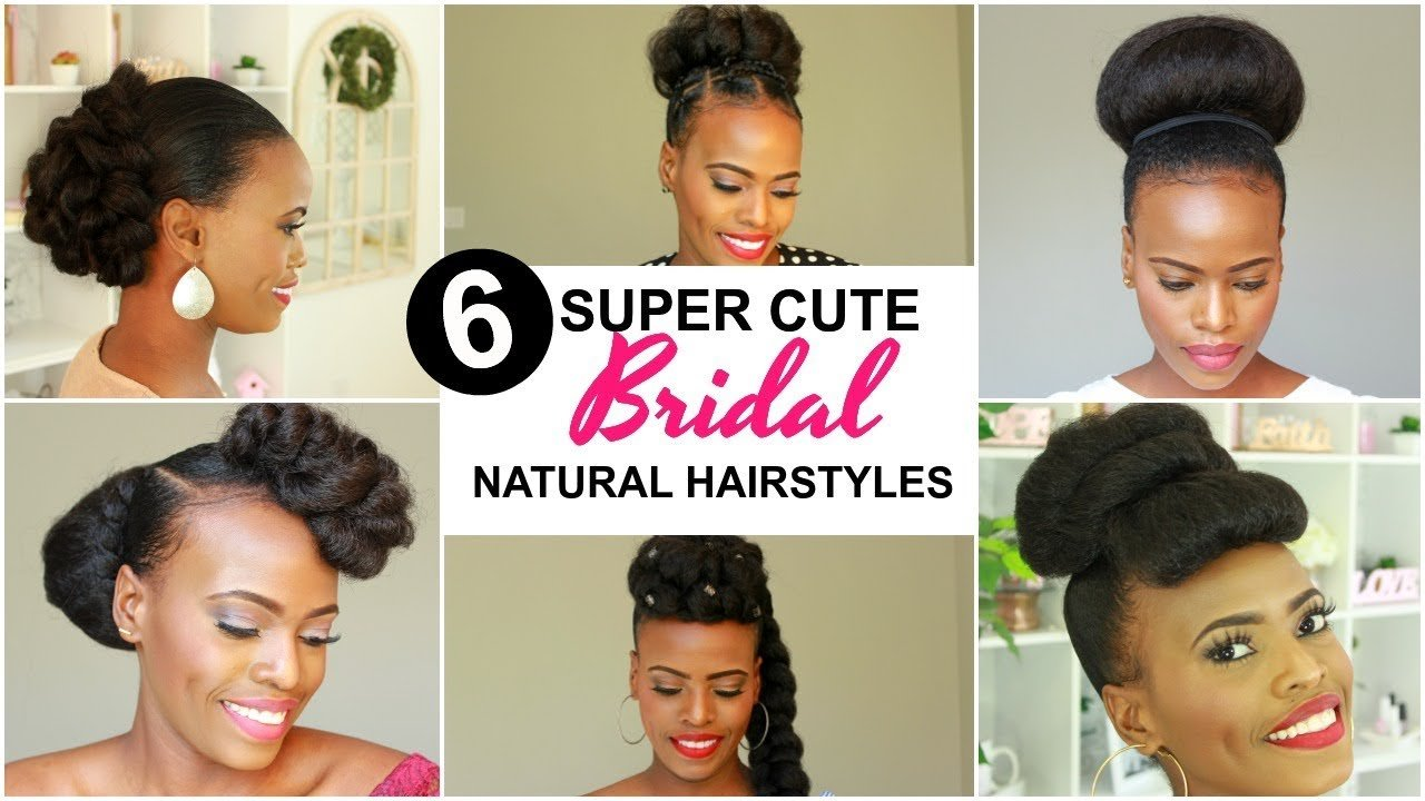 The Best 2019 Bridal Natural Hairstyles For Black Women Youtube Pictures