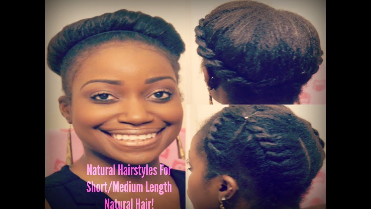 The Best Easy Natural Hairstyles For Short Medium Length Natural Pictures
