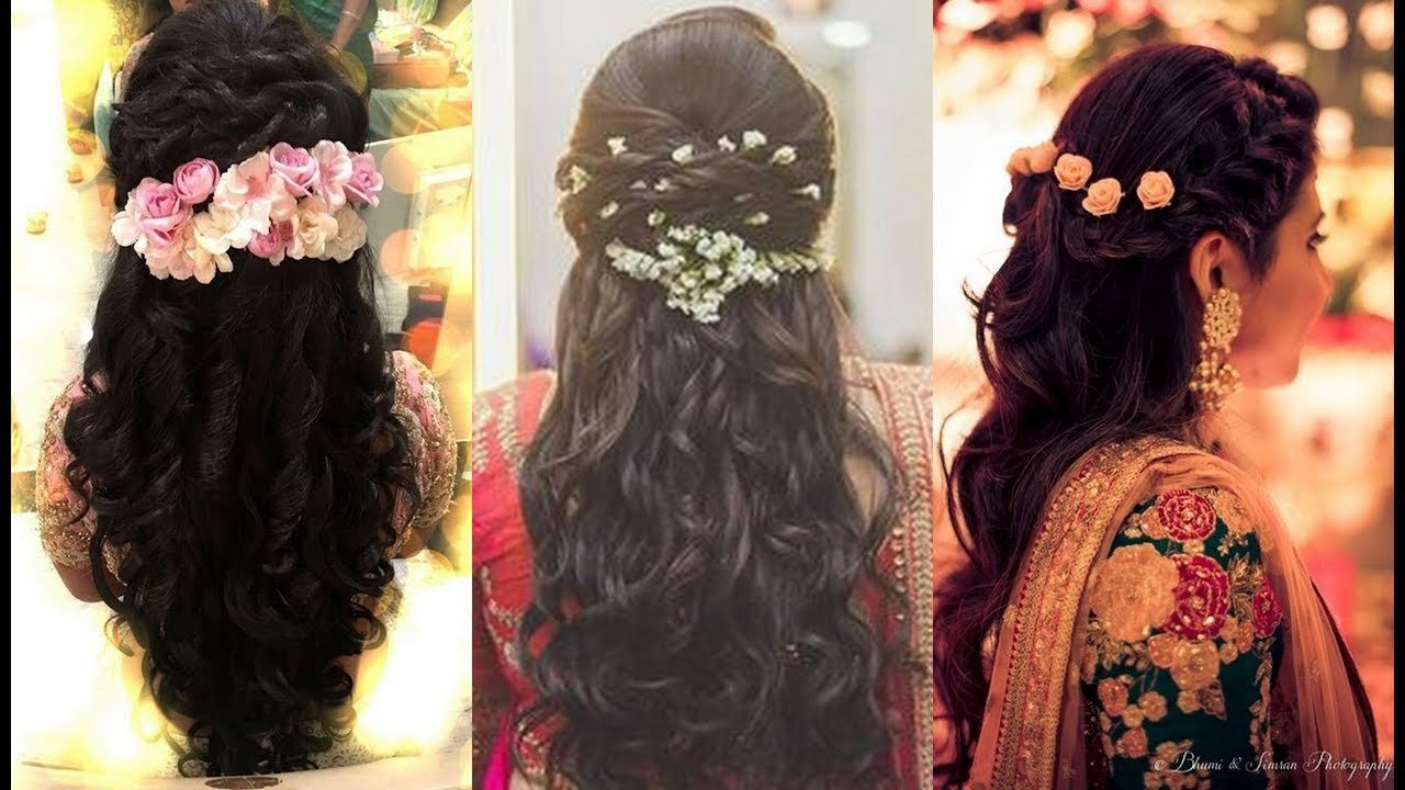The Best South Indian Bridal Hairstyles For Reception North Indian Pictures