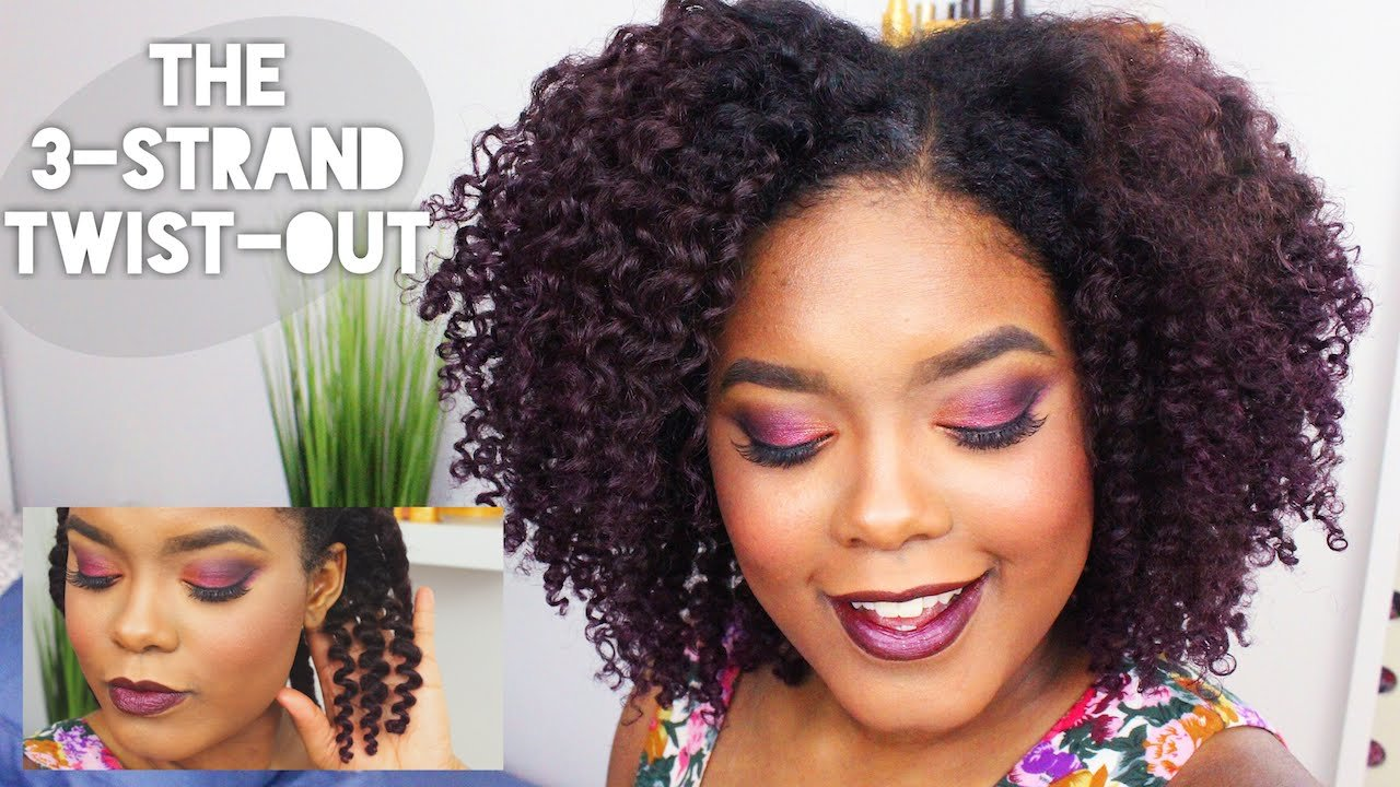 The Best Natural Hairstyles The 3 Strand Twist Out Youtube Pictures