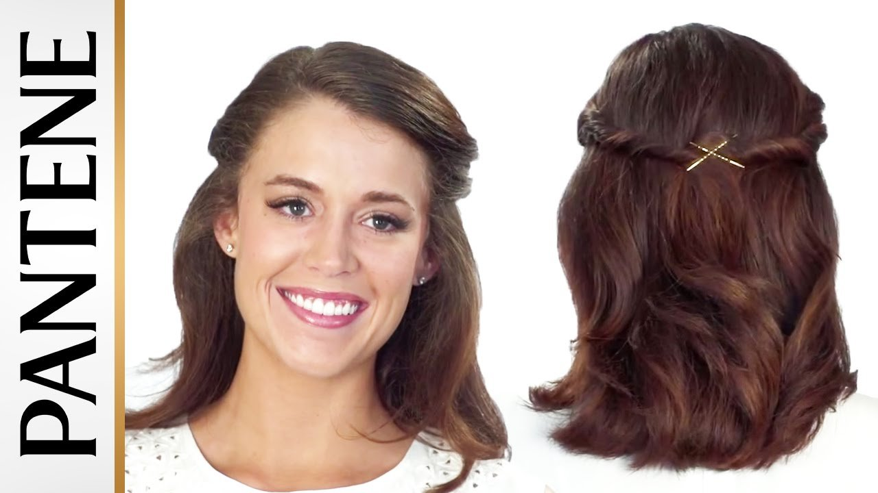 The Best Half Up Half Down Hairstyles Easy Half Up Twist Updo Pictures