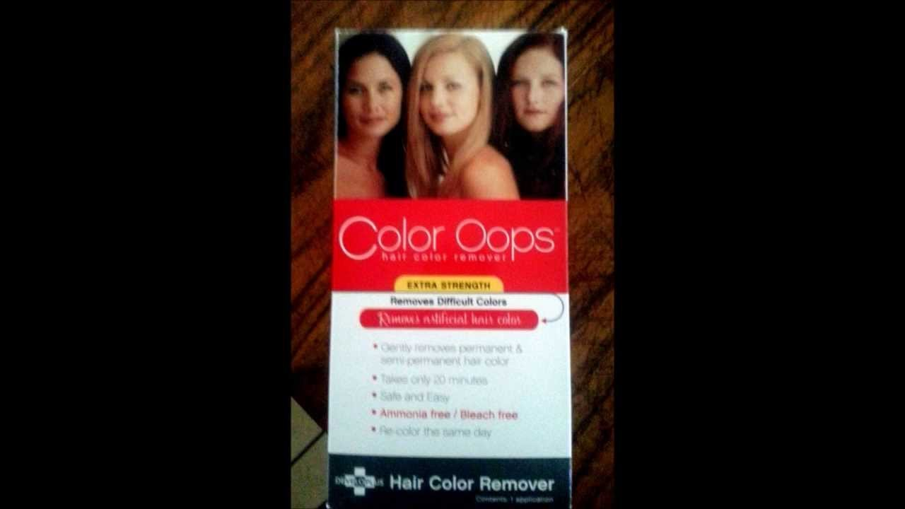 The Best Using Color Oops Hair Color Remover On Red Hair Youtube Pictures
