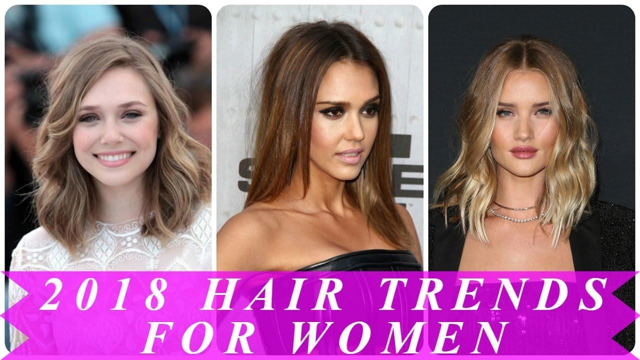 The Best 2018 Hair Trends For Women Youtube Pictures