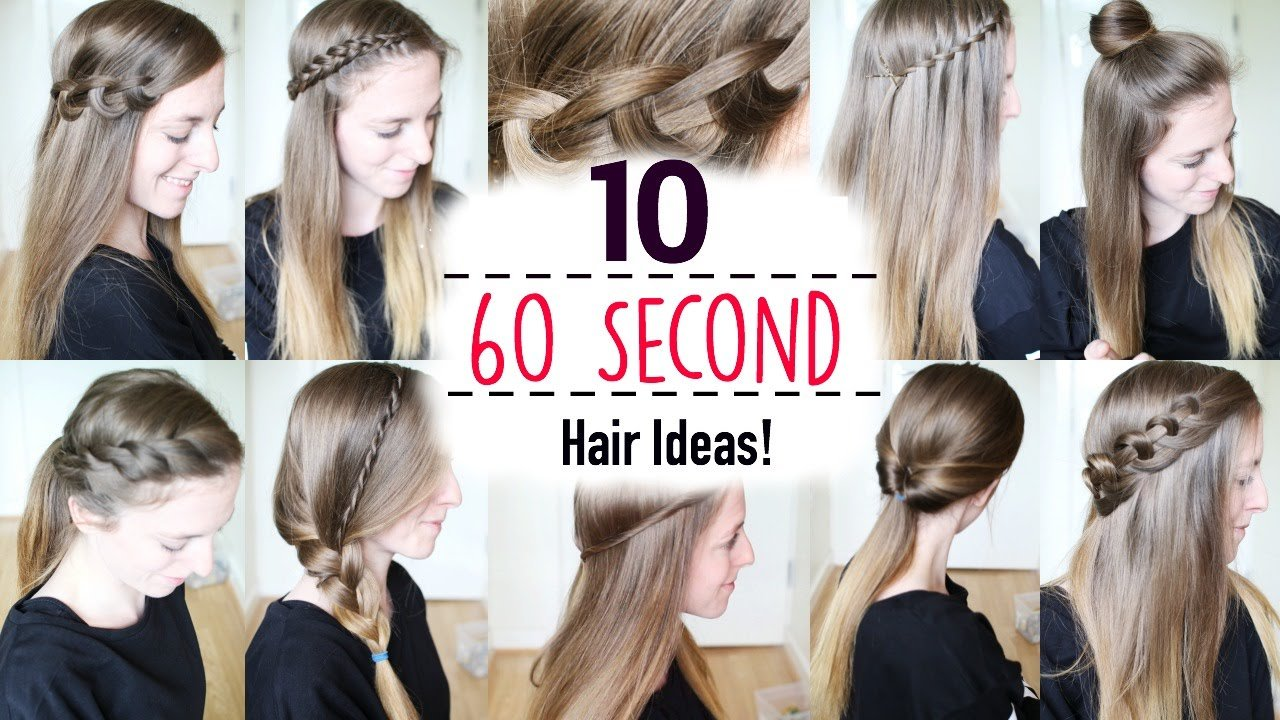 The Best Ten 60 Second Heatless Hairstyles 1 Minute Hairstyles Pictures