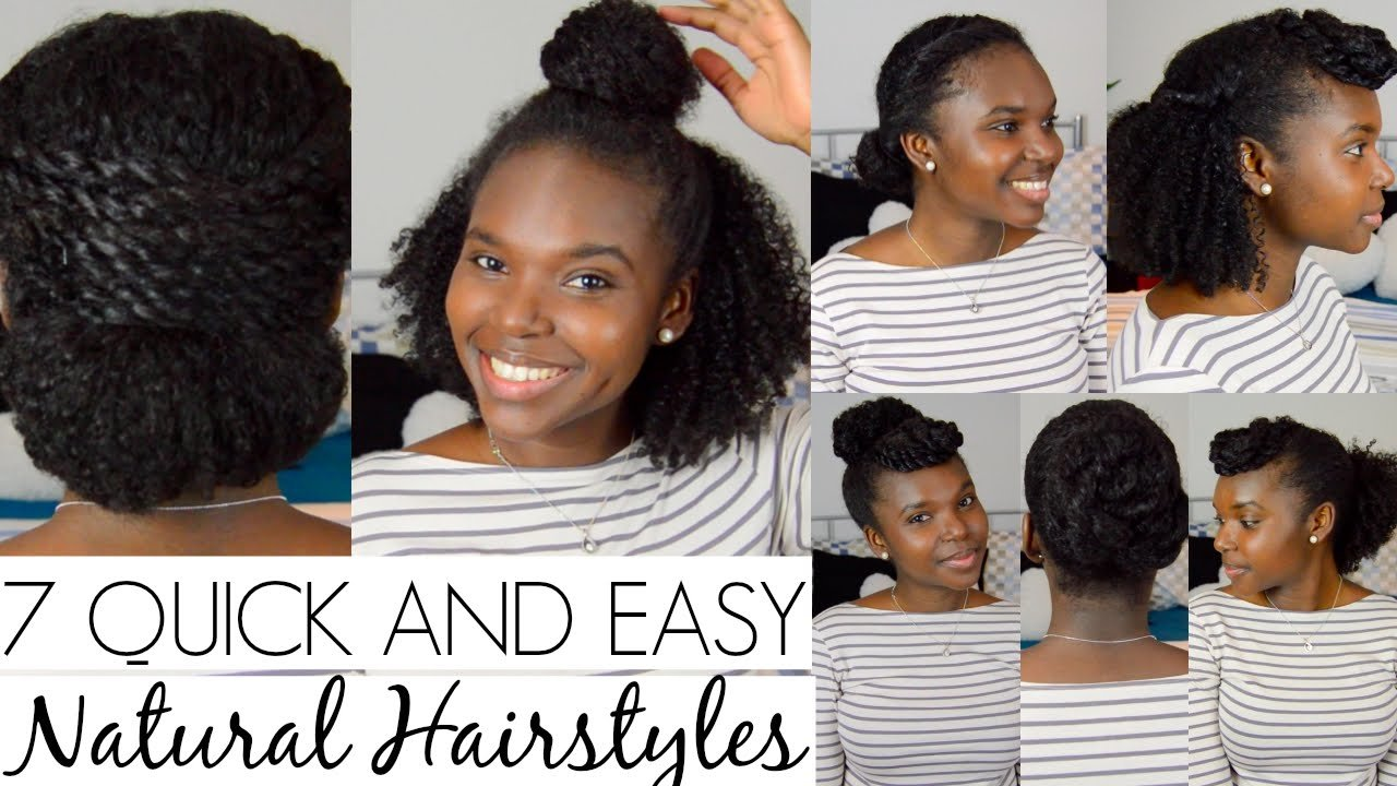 The Best 7 Quick And Easy Hairstyles For Natural Hair Youtube Pictures