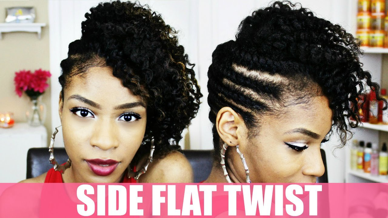 The Best Side Flat Twist Hairstyle On Natural Hair Youtube Pictures