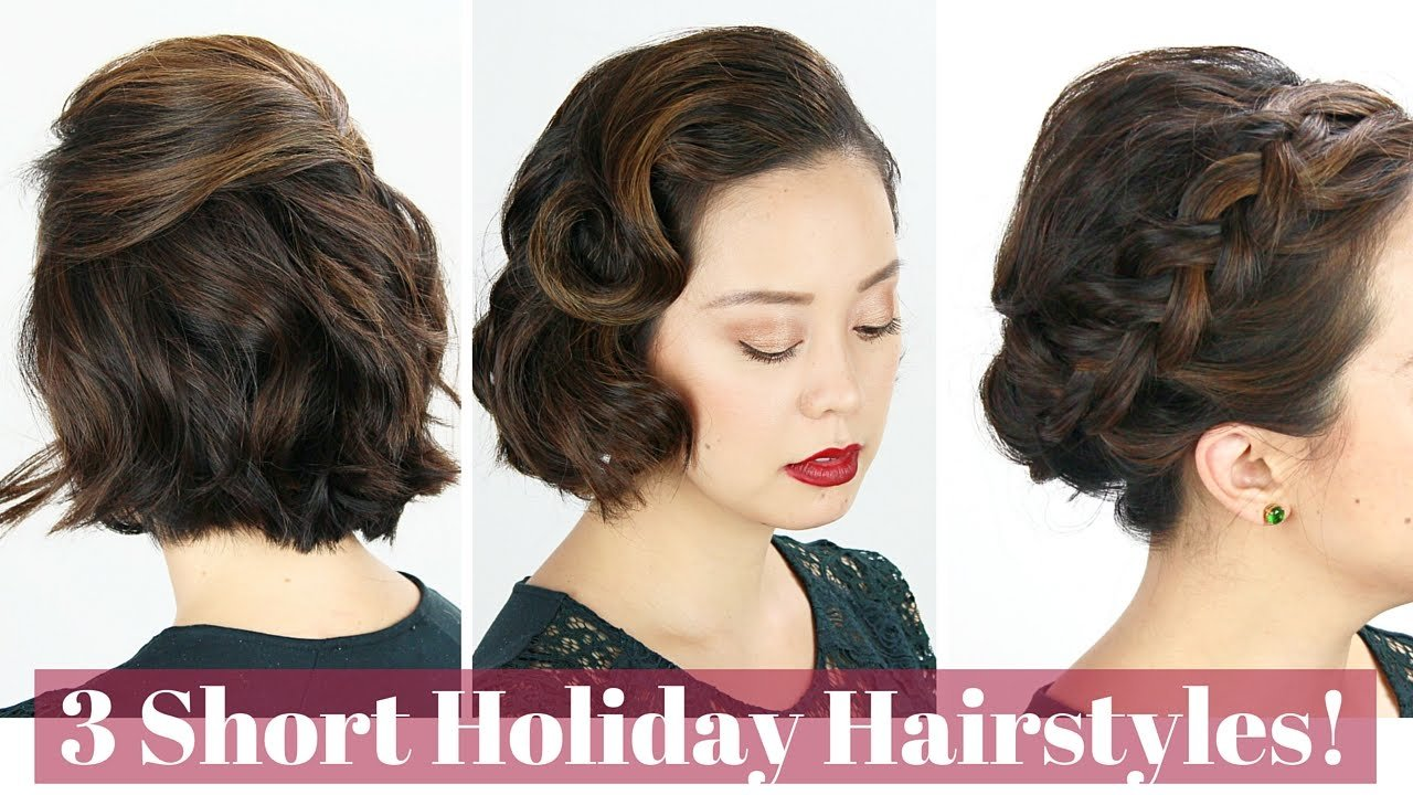 The Best 3 Short Hair Holiday Hairstyles Youtube Pictures