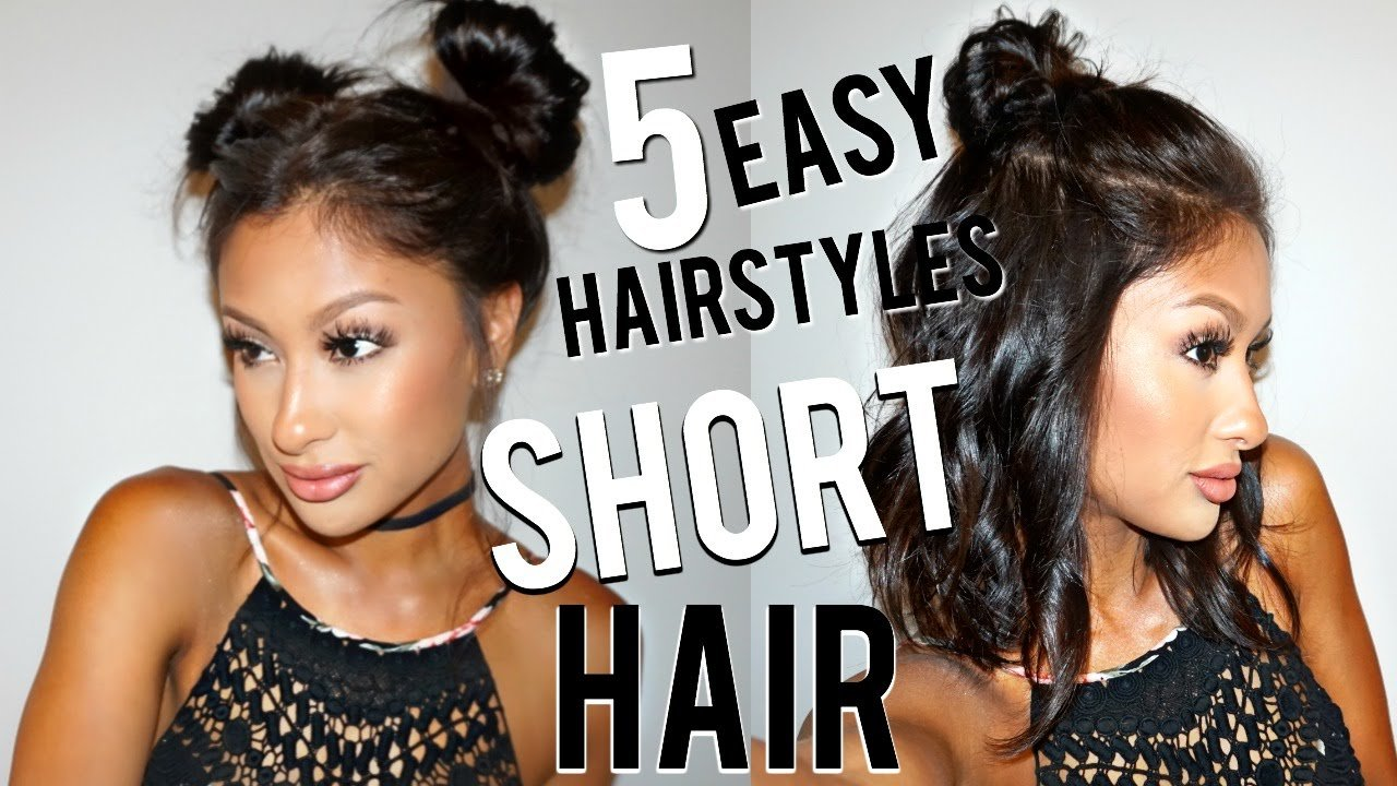 The Best 5 Easy Hairstyles For Short Hair Youtube Pictures