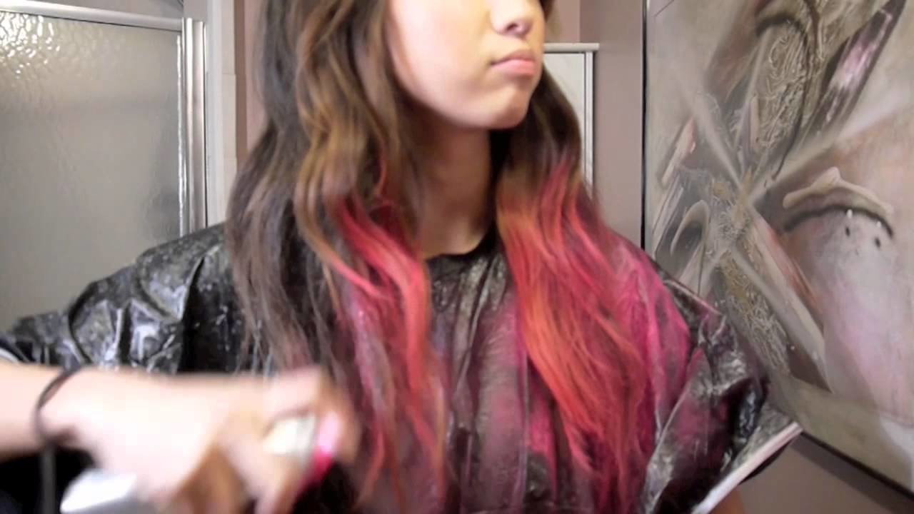 The Best Pink Dip Dye Hair Temporary Color Youtube Pictures