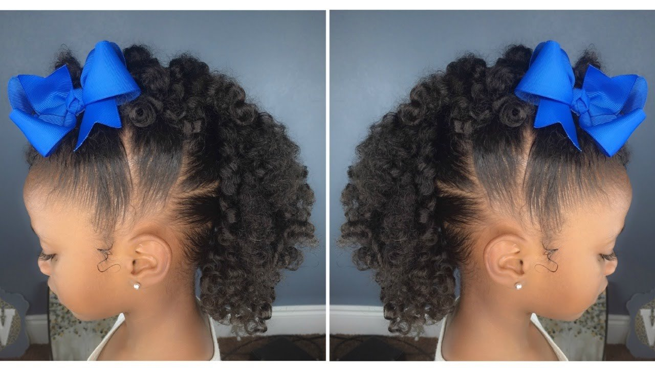 The Best Curly Fro Hawk Tutorial Kids Natural Hairstyle Iamawog Pictures