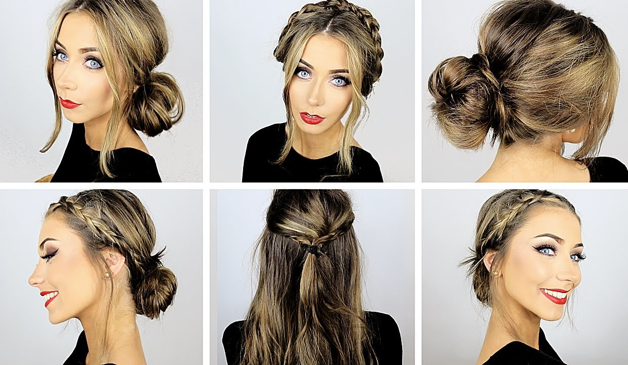 The Best 5 Easy Heatless Hairstyles For Work School ♡ Danielle Pictures
