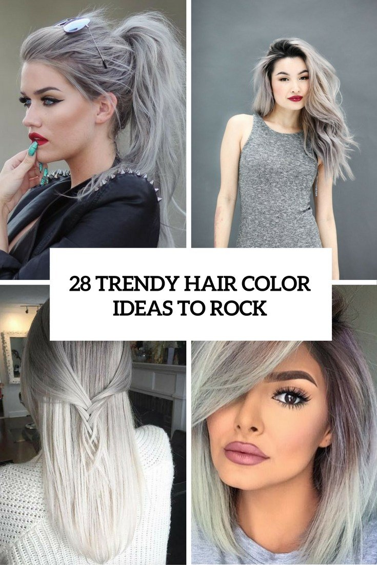 The Best Picture Of Trendy Grey Hair Color Ideas To Rock Cover Pictures
