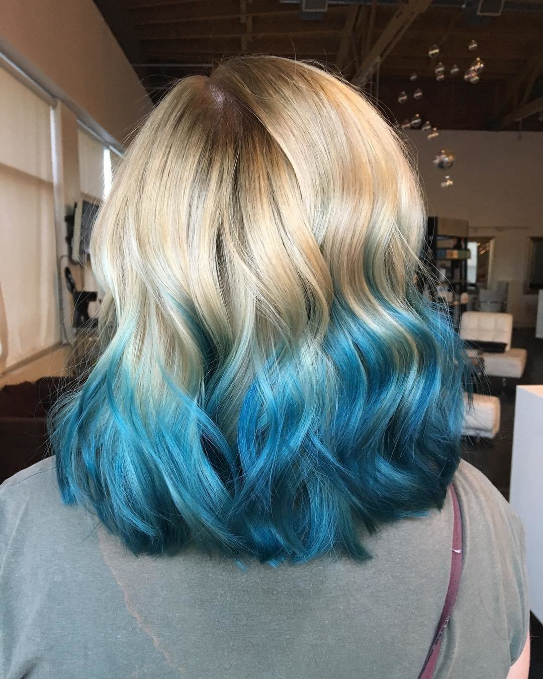 The Best Blue Ombre Hair Color Light And Dark Shades 2017 Pictures