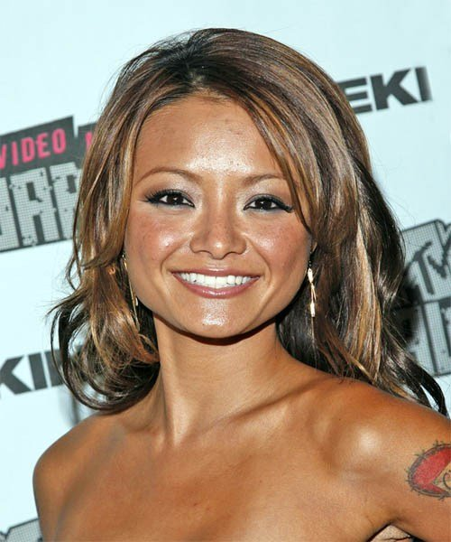The Best Tila Tequila Casual Long Wavy Hairstyle Pictures