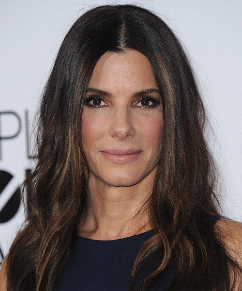 The Best Sandra Bullock Casual Long Straight Hairstyle Dark Pictures