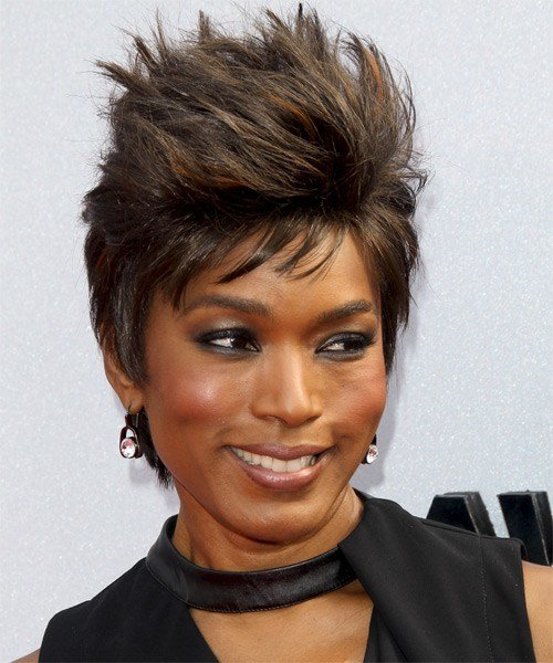 The Best Angela Bassett Casual Short Straight Hairstyle Pictures