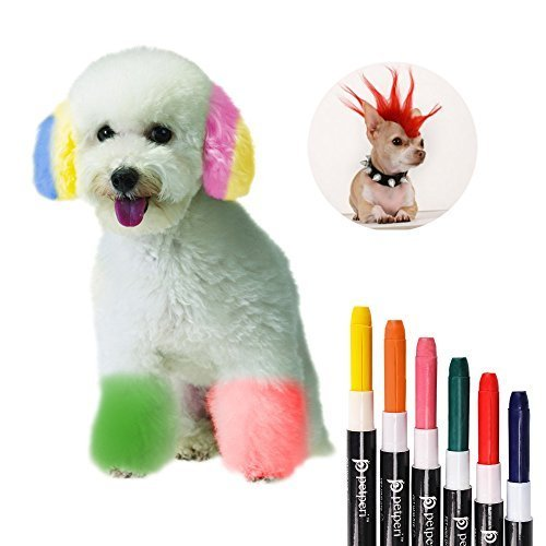 The Best Petperi Professional Temporary Dog Hair Dye Pens Set 6Pcs Pictures