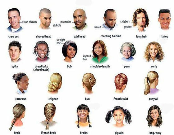 The Best About Hair And Hairstyles In English Pictures