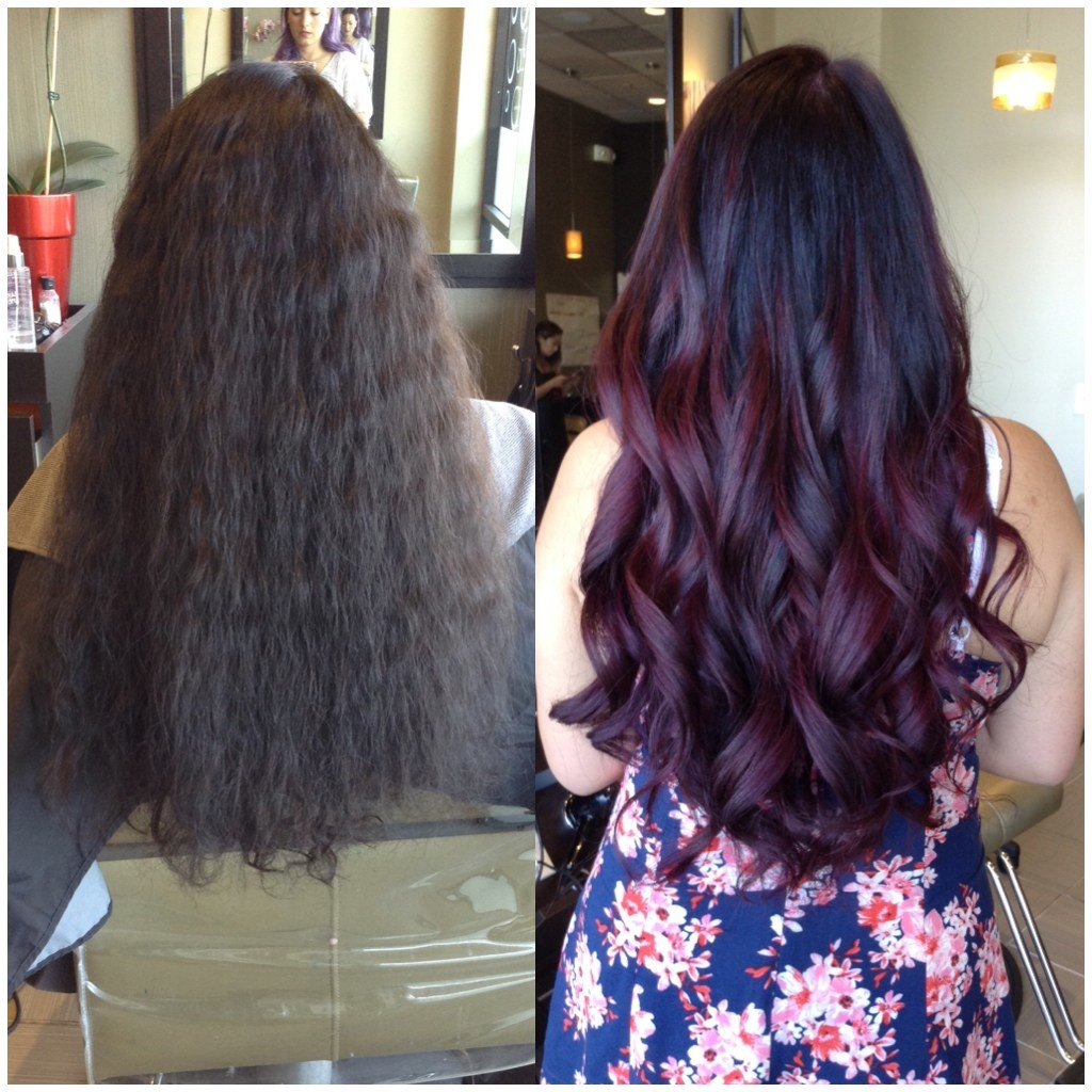 The Best Transformation From Perm To Deep Red Violet Career Pictures