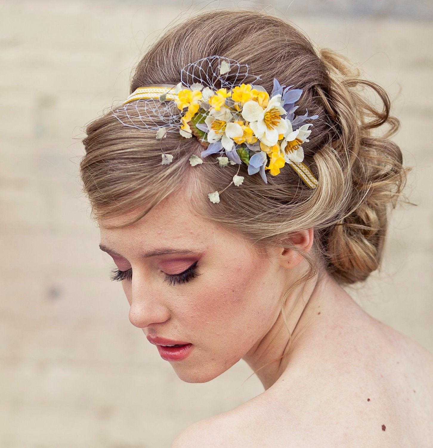 The Best Spring Flowers Headband Headbands For Women And Weddings Pictures