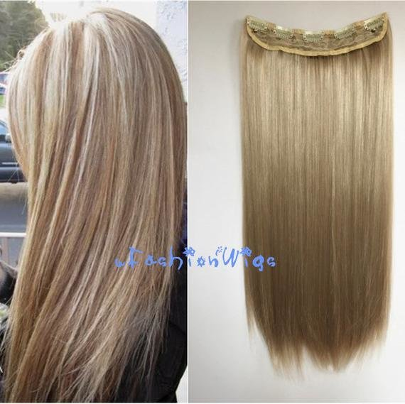 The Best Ash Blonde Solid Color Clips In Hair Extension By Ufashionwigs Pictures