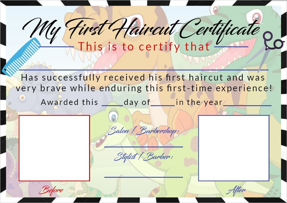 The Best Boys First Haircut Certificate Baby First Haircut Photo Etsy Pictures