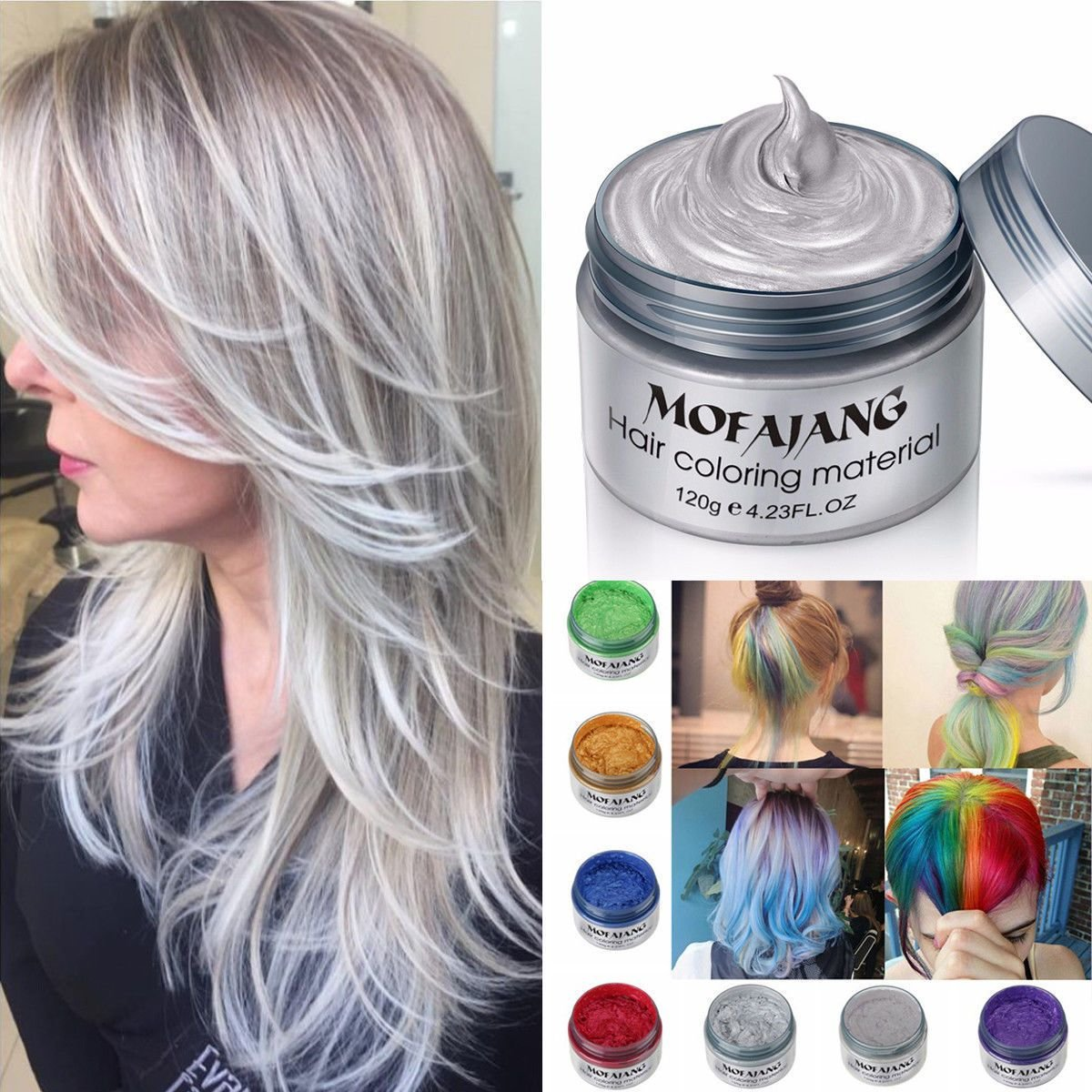 The Best Gray Diy Hair Color Wax Mud Dye Coloring Cream Temporary Pictures