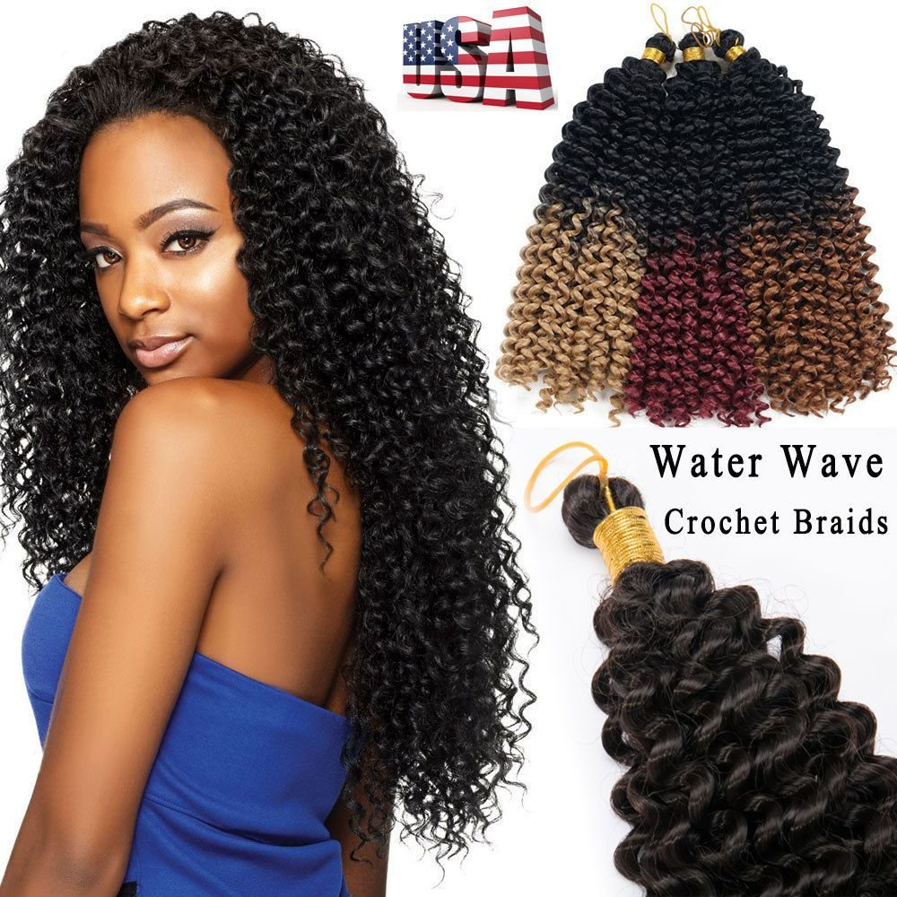 The Best 100 Natural Water Wave Crochet Braids Long Deep Curly Pictures