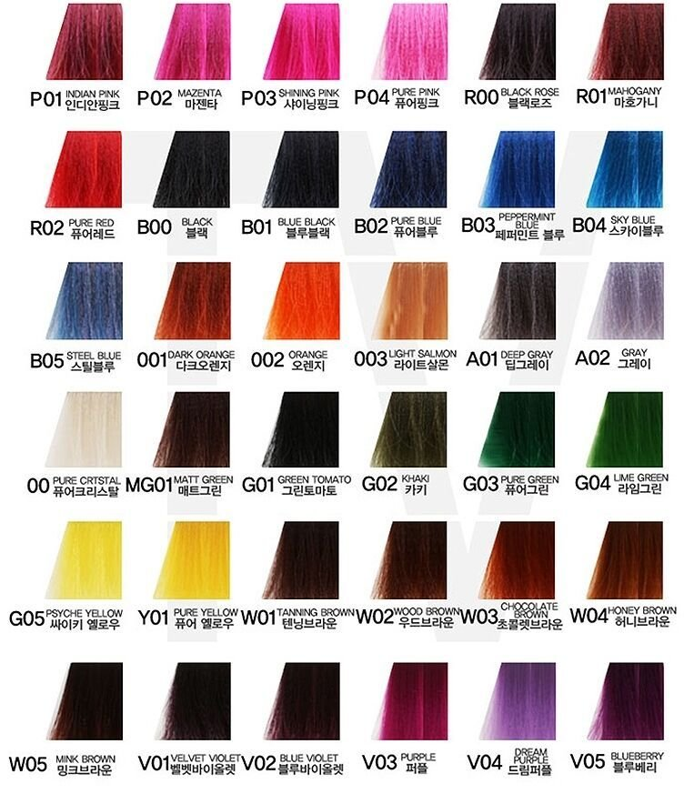 The Best Anthocyanin Hair Color Manicure 230G 45 Colors Semi Pictures