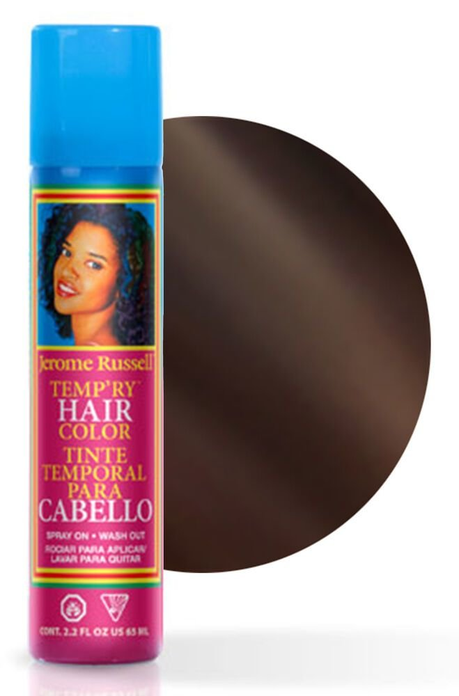 The Best Jerome Russell Temp Ry Temporary Hair Color Spray 65Ml Dark Brown 14608580598 Ebay Pictures