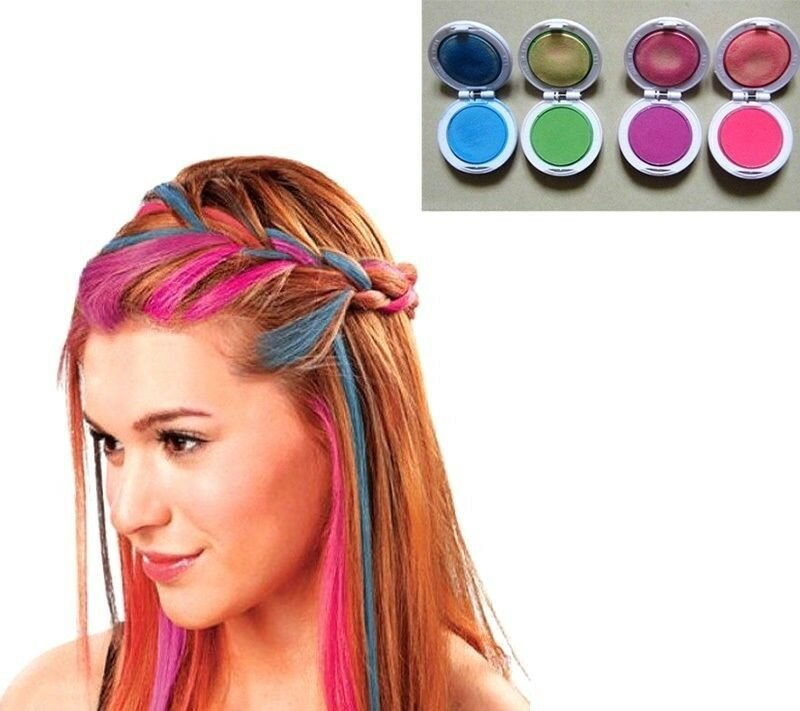 The Best Fd614 Girl Women Temporary Hair Chalk Pink Blue Fuchsia Green 1 Set Of 4 Colors Ebay Pictures