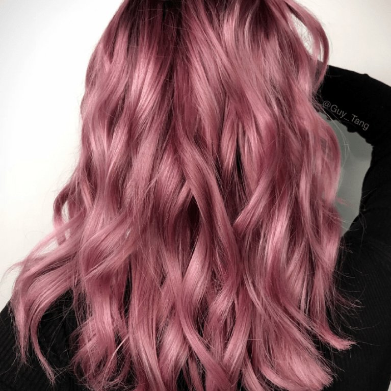The Best Sunset Pink And Rose Gold Hair Colors Are Trending For Pictures