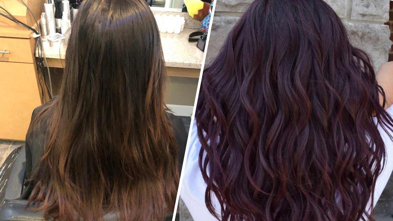 The Best Wine Hair Is The Deep Purple Fall Hair Color Allure Pictures