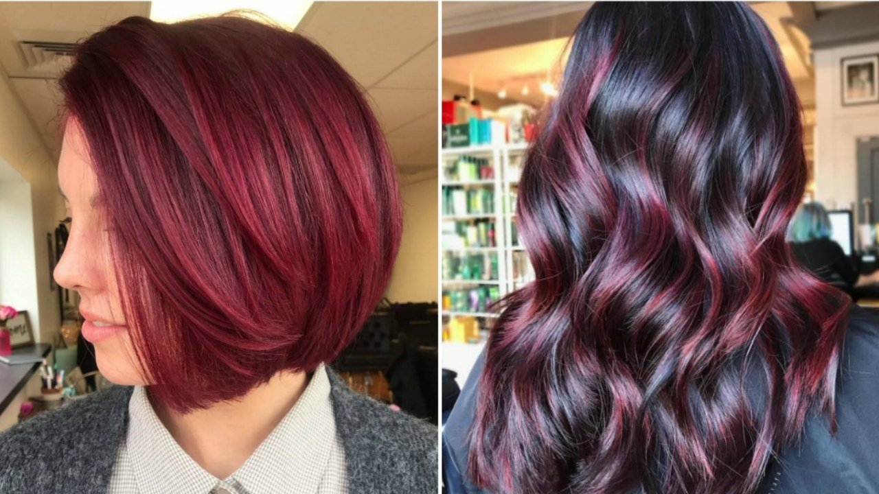 The Best Cranberry Red Hair Is The Sauciest Winter Hair Color Trend Pictures