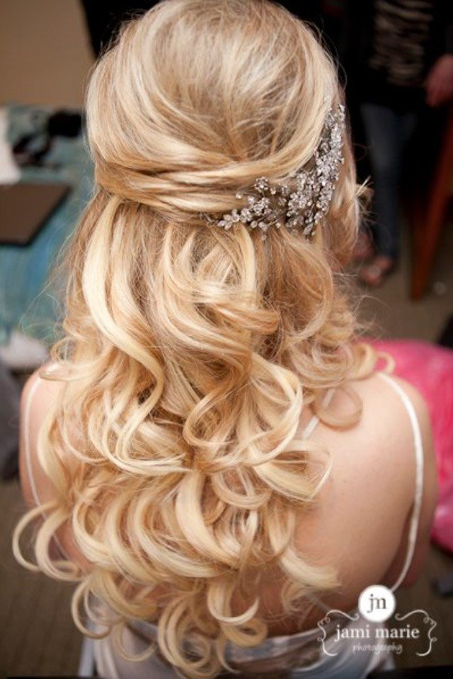 The Best 15 Fabulous Half Up Half Down Wedding Hairstyles Pictures