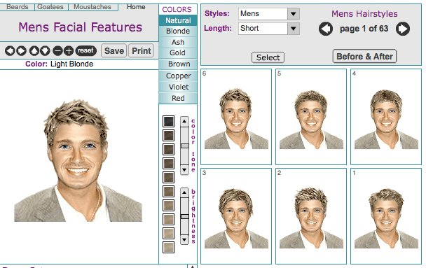 The Best Men S Virtual Hairstyle Makeovers Online Tool Pictures