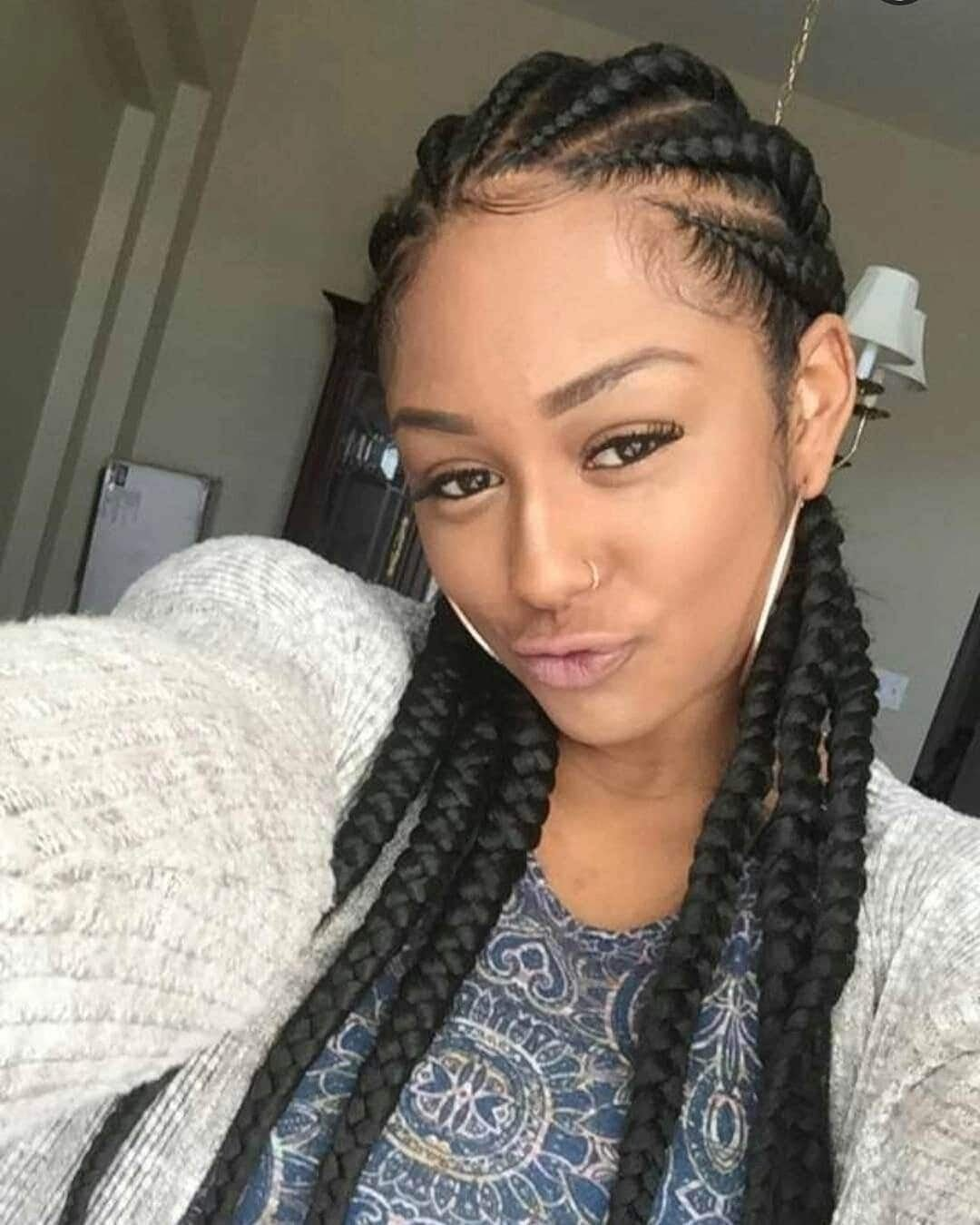 The Best Trendy Nigerian Cornrow Hairstyles For 2018 Yen Com Gh Pictures