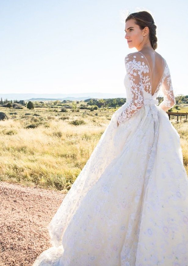 The Best 13 Celebrities Who Wore Long Sleeved Wedding Dresses Instyle Pictures